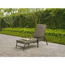 Stack Sling Patio Lounge Chair Tan by Chaise Lounges