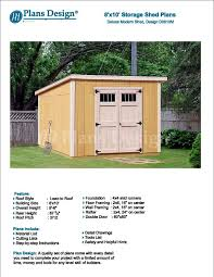 8 x 10 garden storage modern roof style shed plans blueprints