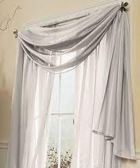 Brylane Home Sheer Curtains by Crushed Taffeta Scarf Valance U0026 Rod Pocket Panel Curtains