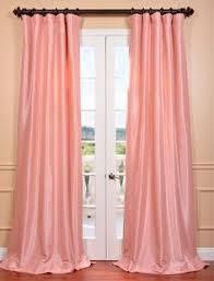 Striped Curtain Panels 96 by Overstock Com Light Pink Cream Stripe Faux Silk Taffeta Curtain