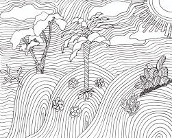 FREE Landscape Coloring Page For Grown Ups And Teens