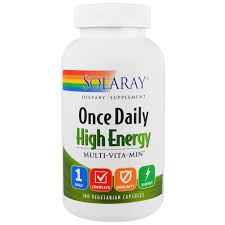 Solaray ce Daily High Energy Multi Vita Min 180 Ve arian