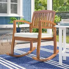 Sol 72 Outdoor Brayan Rocking Chair With Cushion & Reviews   Wayfair Perfect Choice Cardinal Red Polylumber Outdoor Rocking Chairby Patio Best Chairs 2 Set Sunniva Wood Selling Home Decor Sherry Wicker Chair And 10 Top Reviews In 2018 Pleasure Wooden Fibi Ltd Ideas Womans World Bestchoiceproducts Products Indoor Traditional Mainstays White Walmartcom Love On Sale Glider For Cape Town Plow Hearth Prospect Hill Wayfair