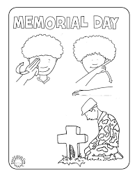 Memorial Day Coloring Page With Sign Language For Children
