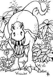 Dessin Dinosaure Tyrex Beautiful Silhouette D Un Tyrannosaure