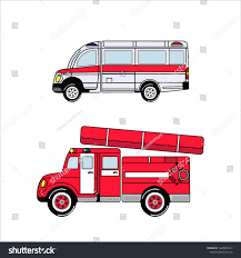 100 Fire Truck Wallpaper Ambulance Cars Kids Toys Stock Vector Royalty