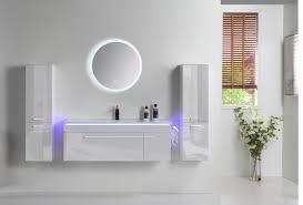 5 tlg badmöbel set 90cm weiß led hochglanz badezimmermöbel led system spiegel mit heizplatte