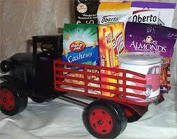100 Snack Truck Gift Basket Metal Nuts Jerky Mens Garden Gifts Or Inside
