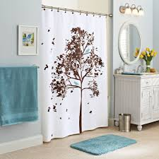 Walmart Better Homes And Gardens Sheer Curtains by Better Homes And Gardens Farley Tree Fabric Shower Curtain