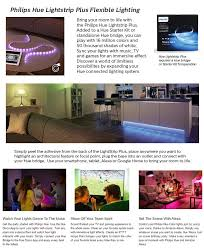 philips hue lightstrip plus dimmable led smart light 800276 the