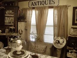 Burlap Curtains With Brown Large Curtain And Woden Floor For Placed Living Room Decor
