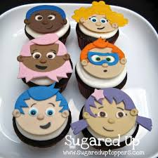 Bubble Guppies Cake Decorations by Bubble Guppies Fondant Cupcake Toppers By Sugared Up