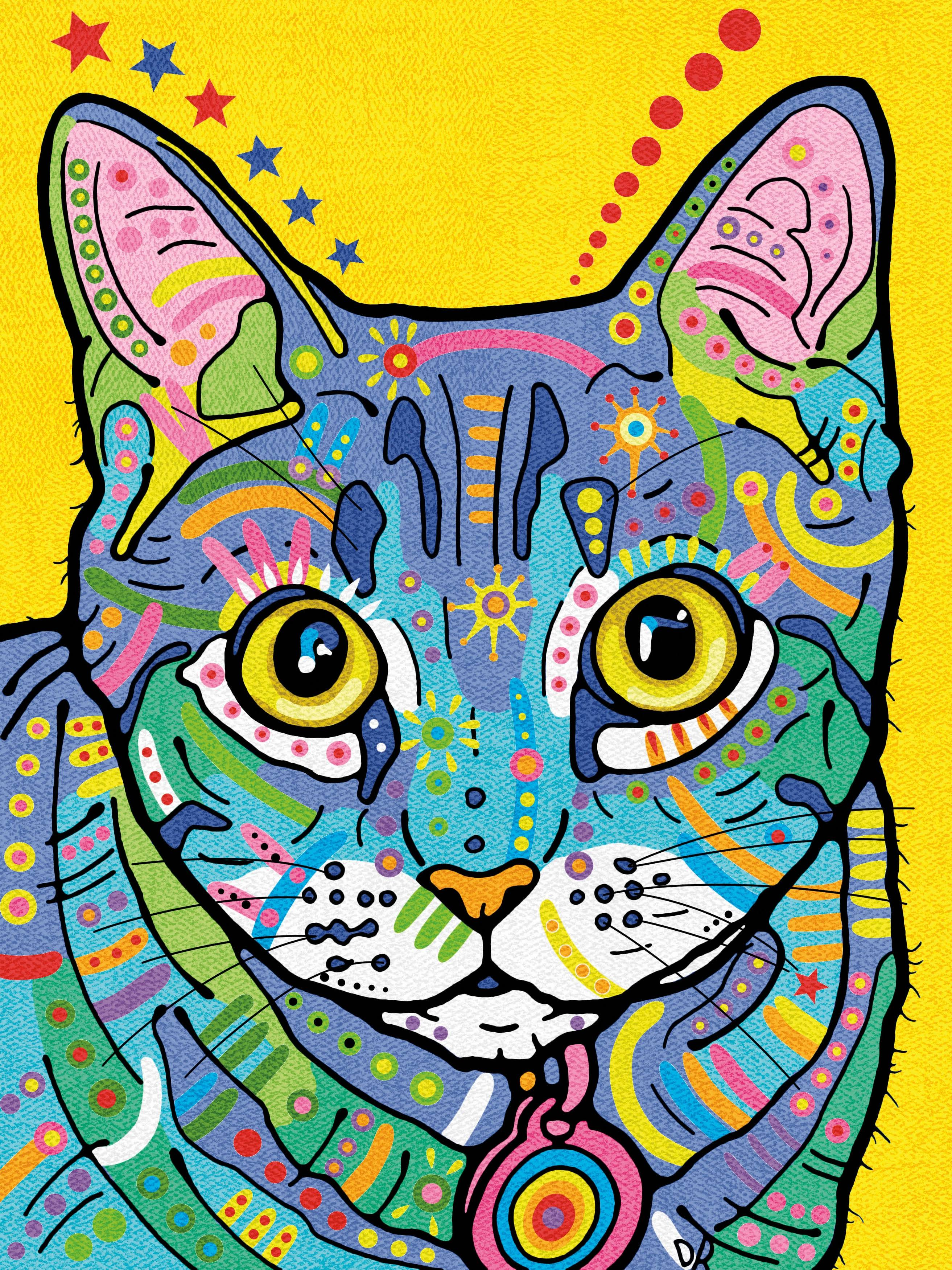 Dimensions 73-91694 9 x 12 in. Pencil Works Color by Number Kit Colorful Cat