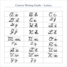 11 Cursive Writing Templates – Free Samples Example Format
