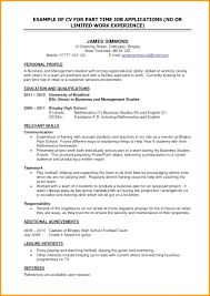 100 Basic Resume Example S For Part Time Jobs 8 Books Historical