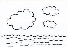 Colouring Pages Uses Of Water Days Creation Cycle Coloring Sun