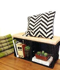 Wooden Milk Crates A Little Fabric Some Wood Batting And Staples Will Turn Two Into