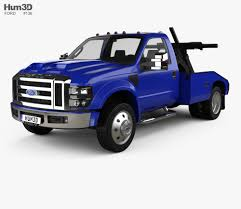 100 3d Tow Truck Games Ford Super Duty F550 With HQ Interior 2005 3D Model