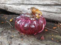 Blown Glass Pumpkins Boston by Purple Blown Glass Pumpkin 4 5 Decorative By Avalonglassworks
