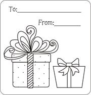 Printable Gift Tags Present Free Christmas