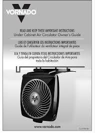 Vornado Zippi Desk Fan by Vornado Fan Under Cabinet Air Circulator User Guide