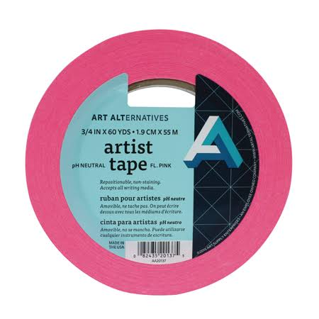 "Art Alternatives - Artist Tape - Assorted Colors - Pink- 3/4"" AA20137"