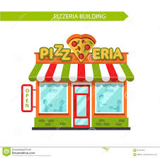 Pizzeria Shop Building Illustration 61451651