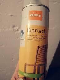 2 x obi klarlack spray innen und außen matt
