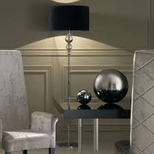 Contemporary Multi Shade Chrome Arm Floor Lamp by Floor Lamps Contemporary Designer Italian Chrome Crystal Floor