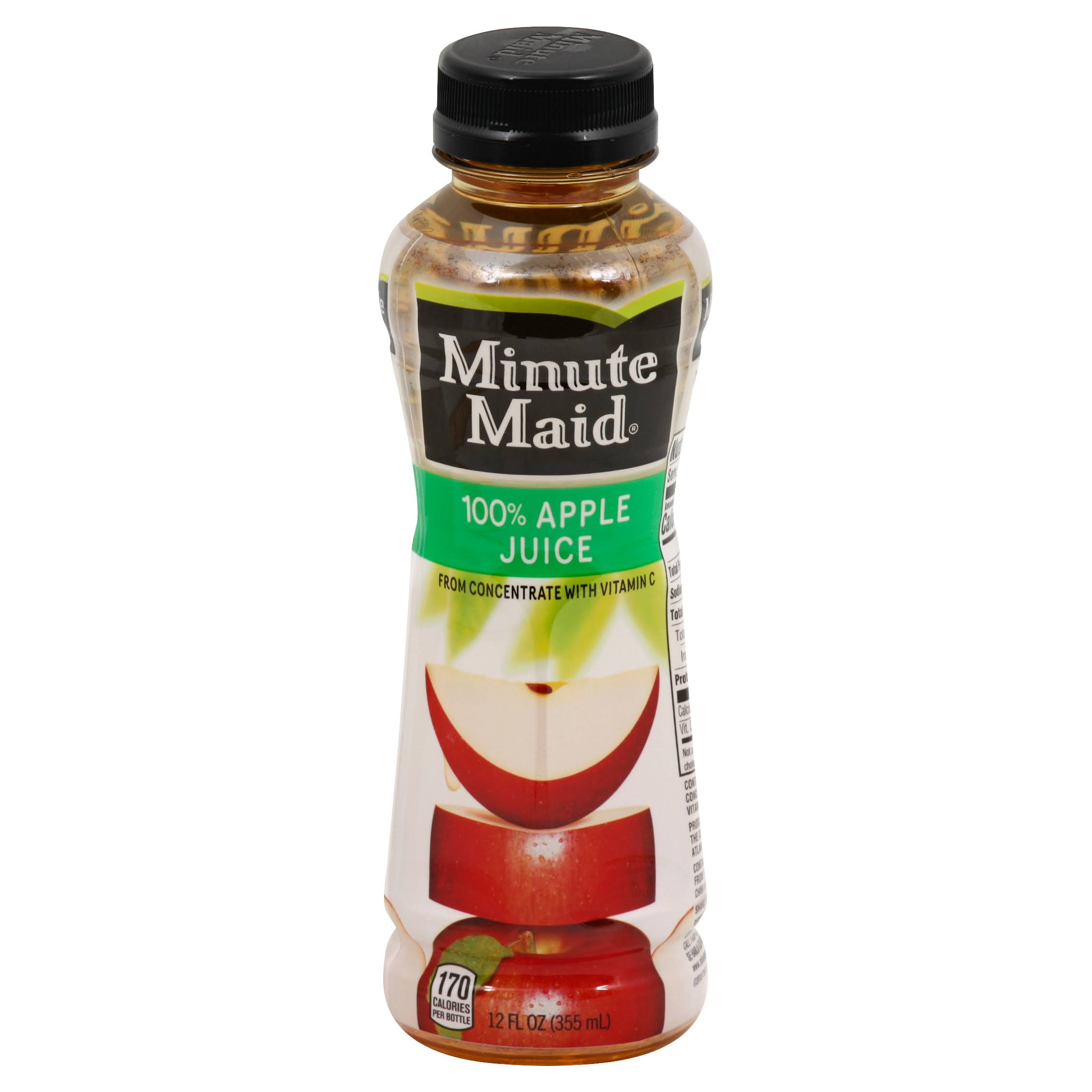 Minute Maid 100% Juice, Apple - 12 fl oz