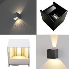 2pcs 7w ip54 adjustable cube wall light exterior project up