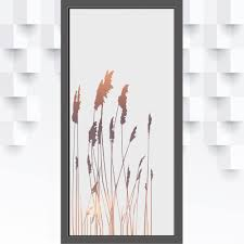 glastür folie gräser