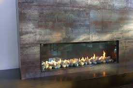 floor to ceiling fireplace in living room modern vancouver
