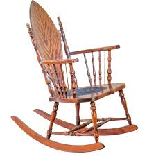 American Maple Veneered Beech Rocking Chair Early 20th Century