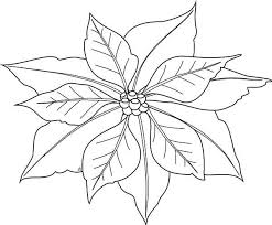 Poinsettia Coloring Pages Happy Holidays