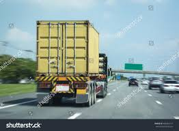 Transport Container Trade Port By Truck Stock Photo (Edit Now ...