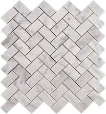 Oracle Tile And Stone Marble by Herringbone Carrara Marble Polished Brick Tiles Polished Marble