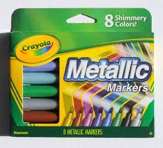 Crayola Bathtub Crayons Target by 8 Count Crayola Metallic Markers What U0027s Inside The Box Jenny U0027s