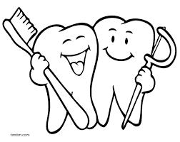 Happy Teeth Coloring Page