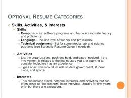Resume Sample Activities And Interests Good Skills On For Professional With Regard To Example Personal