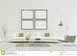 100 Contemporary Scandinavian Design White Sofa In Modern With Four Frames
