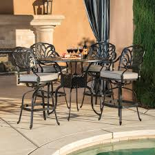 5 Piece Bar Height Patio Dining Set by Veranda Classics San Marino Grey 5 Piece Bar Height Dining Set