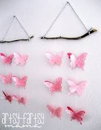 Butterfly Wall Hanging Craft Girls Room Ideas Crafts And Hangings