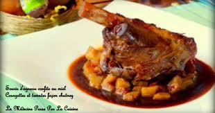 cuisiner souris d agneau au four souris d agneau confite au miel chutney de tomates et courgettes