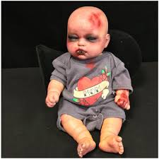 Animatronic Halloween Props Uk by Deluxe Zombie Doll Halloween Decorations Mad About Horror
