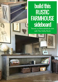 Build This Rustic X Farmhouse Sideboard And TV Console With The Gritty Porch Remodelaholic