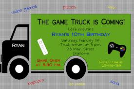 Game Truck Party Invitations | Cimvitation Game Parties R Us Action Station Buy A Mobile Video Truck Street Party Youtube Printable Video Game Invite Minecraft Chevron About Extreme Zone Long Island Trailer In New York City And Truck Coupon Codes Mid Mo Wheels Deals On Tylers Plus Freebie Prices Gamz I L Kids Birthday Bus Northern Jersey Gallery Levelup