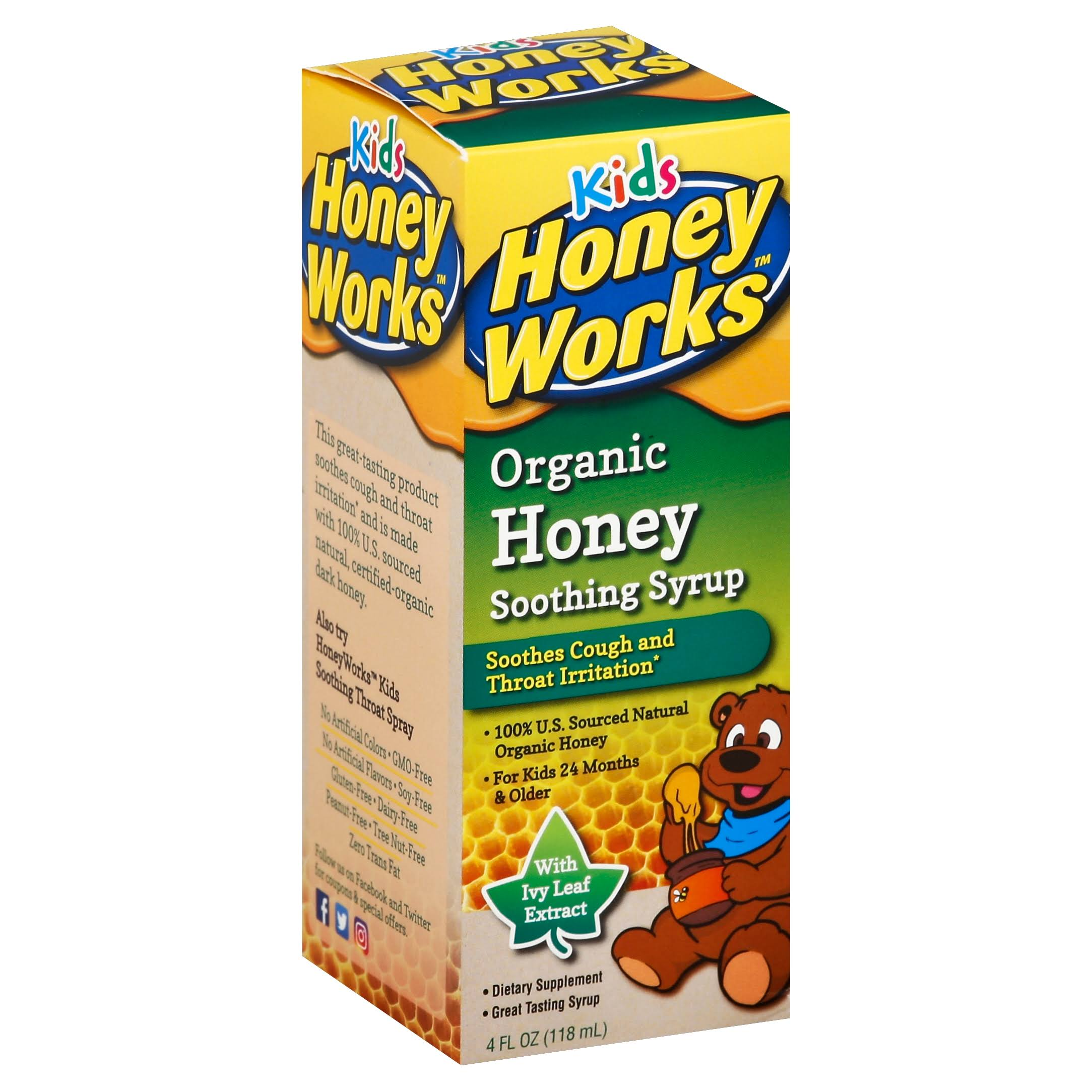 Honey Works Kids Organic Honey Soothing Syrup - 4oz