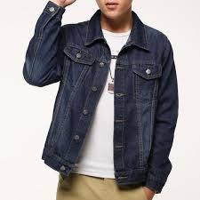 Denim Jacket Men Fashion Jeans Jackets Slim Fit Long Sleeve Vintage Mens And Coat High