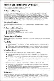 Resume Sample Of Teacher Primary School Teachers India